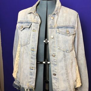 Authentic Free People Denim Jacket Size L